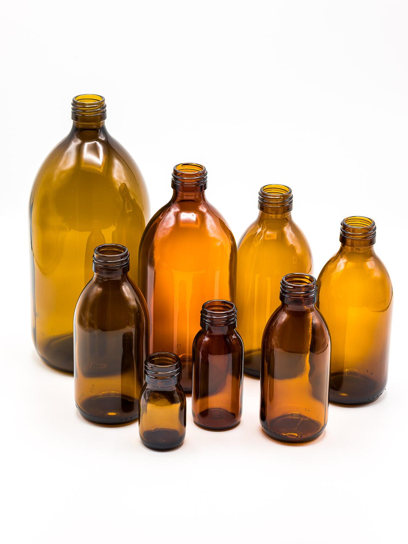 bottle brown glass model OBUS PP28