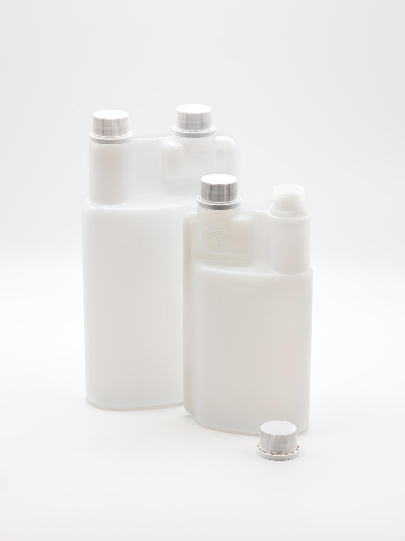 Doppelhals-Dosierflaschen PP28