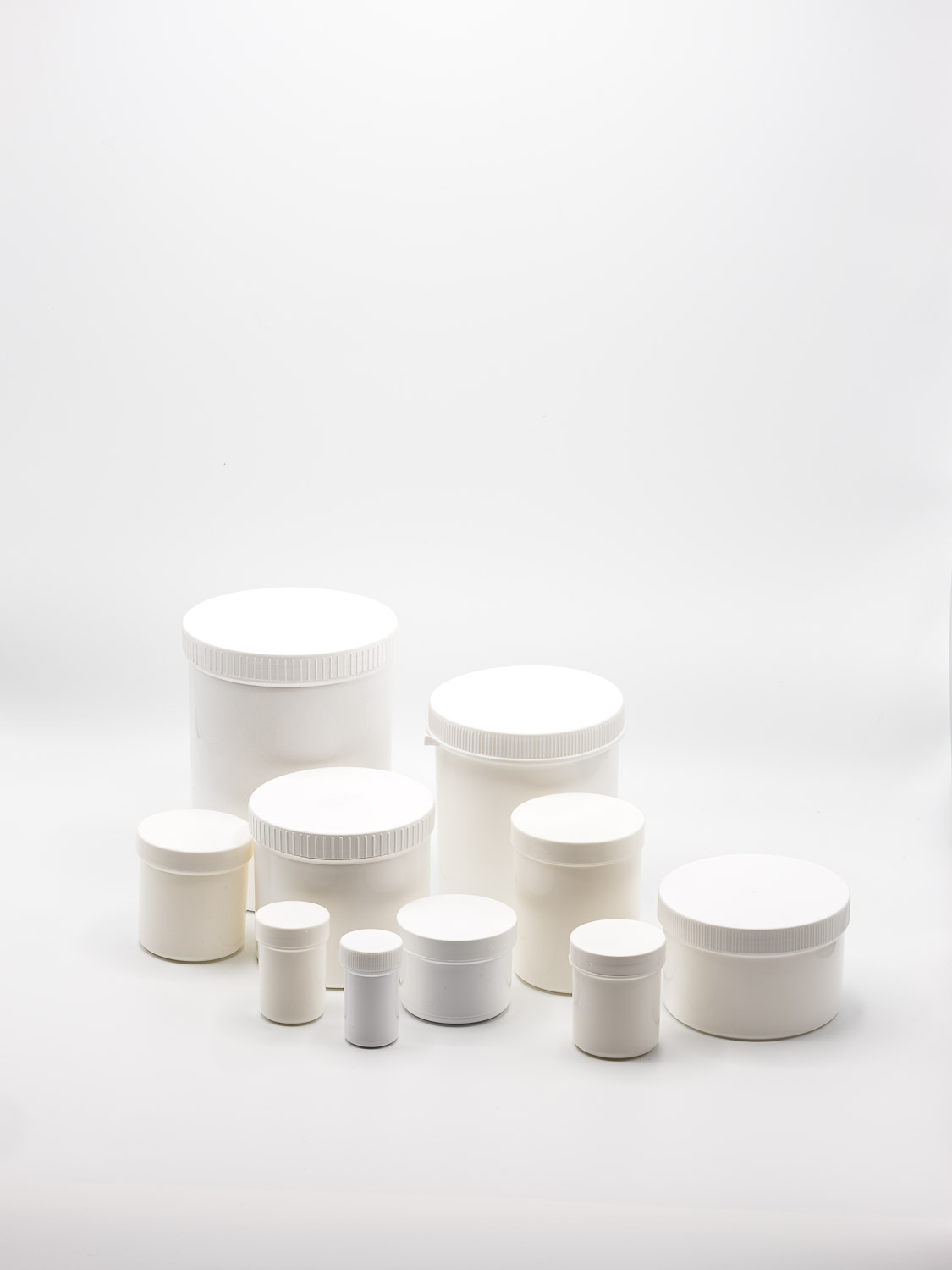 ointment jar PP white
