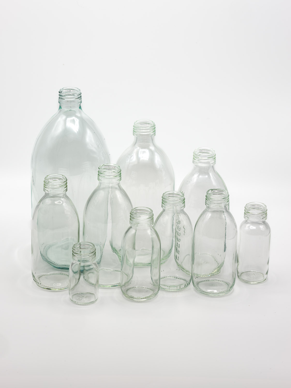 bottle white glass model OBUS PP28